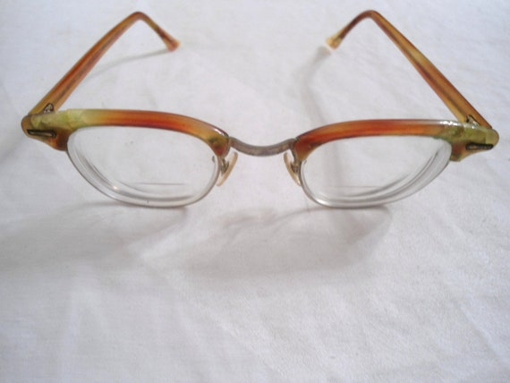 vintage shuron eye glasses with multi colored by