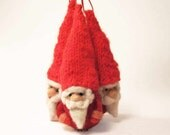 Christmas Santa - needle felted Santa Claus with red hat - Christmas ornament - budget friendly Holiday home decor