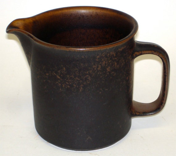 Vintage Brown Arabia Ruska Pitcher