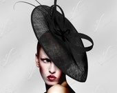 On Sale/Limited Time Offer - Couture Kentucky Derby Fascinator Hat Polka Dot