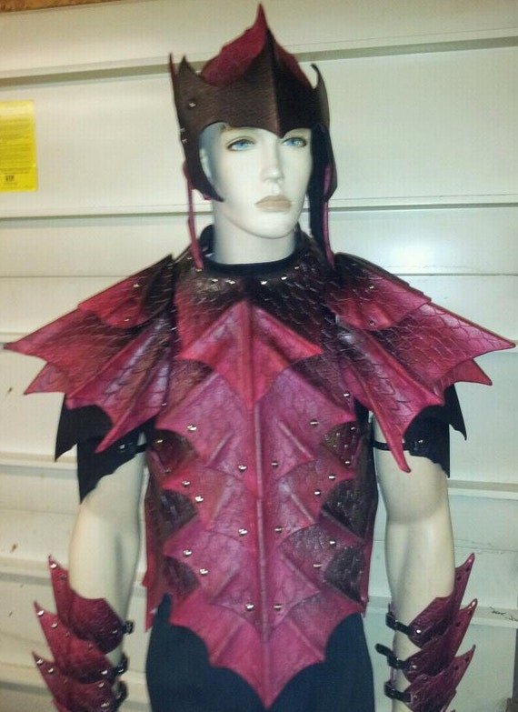 Leather Armor Heavy Dragon Scale chest back & shoulders