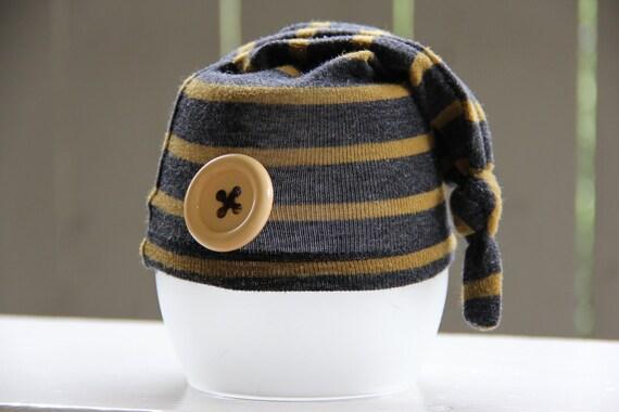 Newborn Boy Upcycled Sweater hat