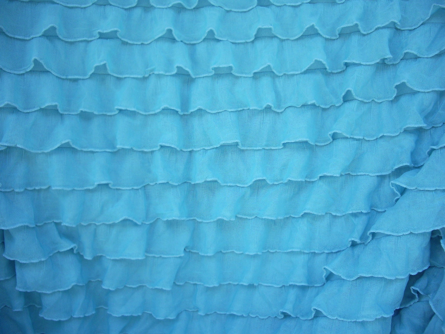 Aqua Ruffle Fabric 1 Yard