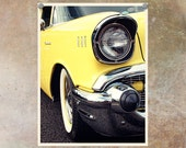 Car Photography Chevrolet Bright Yellow--High Definition Photography 8.5x11