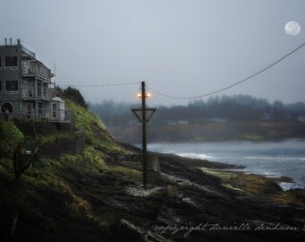 Beach Photo Oregon Depoe Bay Harbor--Fine Art Landscape Photography 8x12