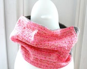 Snood neckwarmer cowl women scarf PARIS neon pink taupe red autumn women fashion soft warm