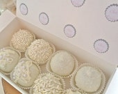 Edible White Wedding Favors sampler Chocolate Dipped cake truffles Frost The Cake