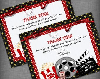Movie Theme Thank You Card