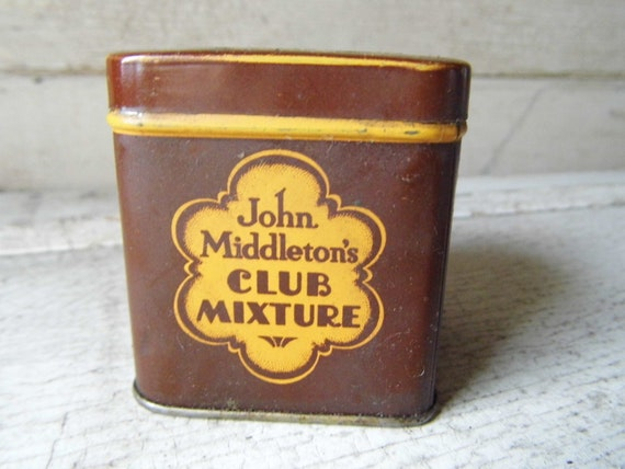 Vintage Tin, Pipe or Cigarette Tobacco Advertising, Storage, Collection, Industrial, Cottage, Lodge from All Vintage Man