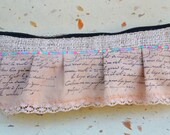 Hemp make up pouch - French inspired pink pencil case