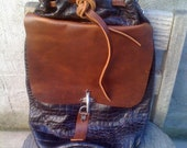 Leather bag / leather purse/ dark bordeaux bag /Handmade and hand stitched
