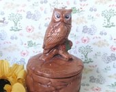 Owl Box -- Vintage 1970's -- Great for Jewelry, Etc