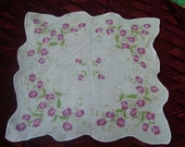 Flowered handkerchief with tulips