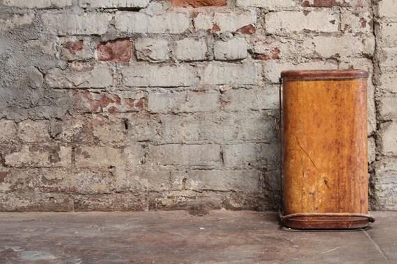 Vintage Industrial Metal Waste Basket