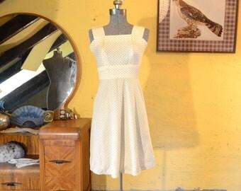 Sunny Yellow Polka Dot Dress XS