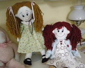 Cloth Dolls Violet and Ruby
