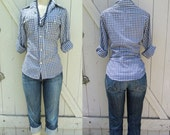 "Vintage Levi's  Big ""E""  Gingham Western Shirt S"