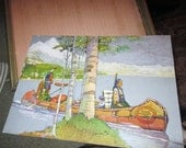 Native American Family in Canoe original Art
