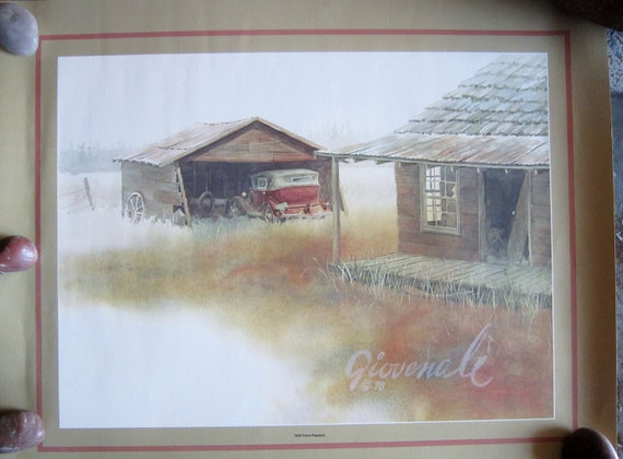 Vintage Posters Ford Lithos 1978 Randy Giovendale Ford Roadster 1932 1929 1934 Ford Pheaton Posters Ready to Frame No Longer in Production