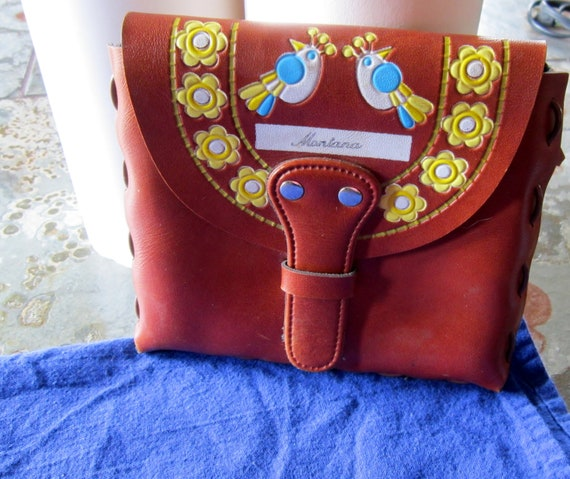 Montana Blue Bird Stamped Leather Pouch