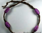 Pink Polymer Clay Bead Hemp Style Necklace