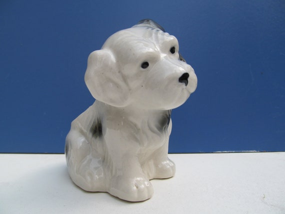 Vintage Ceramic Dog Planter Occupied Japn