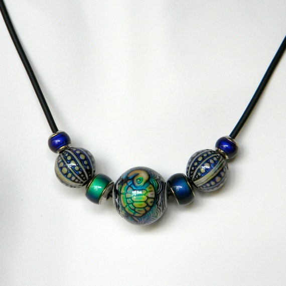 items similar to turtle color change mood necklace gift