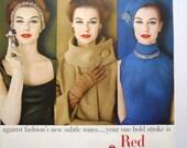 Max Factor hi-fi Color Fast Lipstick Magazine Ad.