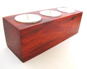 Holiday Tealight Candle Holder Rustic 5th Anniversary Gift