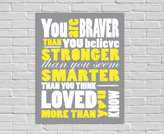 8x10 Winnie The Pooh Quote Print - Downloadable File