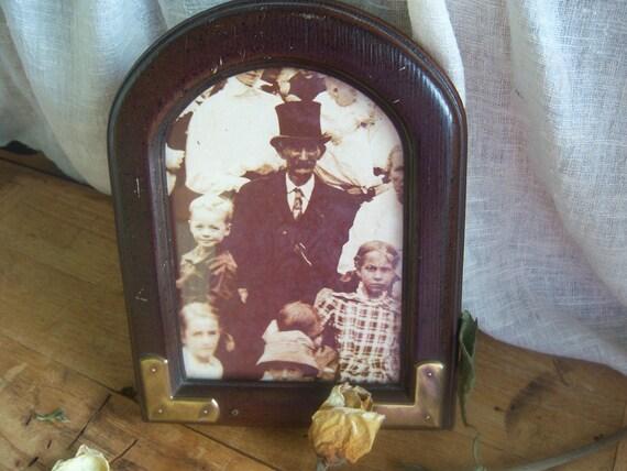 Vintage Wood Picture Frame, Arch Top Wood Frame