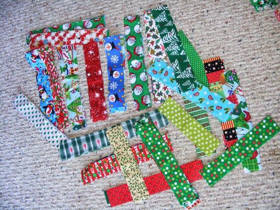 Christmas Bricks - Huge lot cut fabric