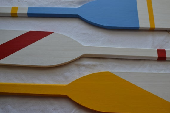 Set of 3 Hand Painted Oars