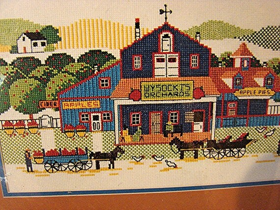 Vintage Dimensions Counted Cross Stitch Kit  CHARLES WYSOCKI Orchard Picture Kit unopened