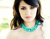 Megan necklace, Turquoise Necklace, Statement necklace, something blue, bridal jewelry
