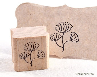 50% OFF SALE Flower pattern Rubber Stamp FP03
