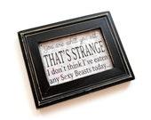 Fridge Magnet in Black Wood Frame