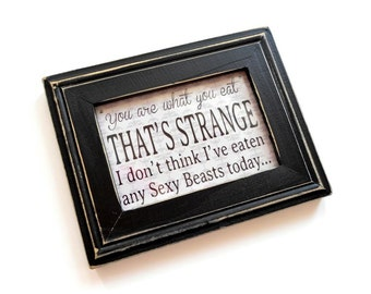 Fridge Magnet in Black Wood Frame