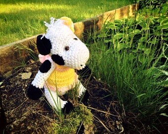 Cow Crochet Plush Toy - Made To Order