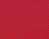 Red with white dots fabric / Makower / patchwork quilting fat quarter
