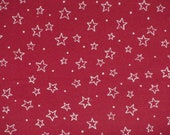 Christmas craft fabric / Red stars dots / Westfalenstoffe / Patchwork quilting fat quarter