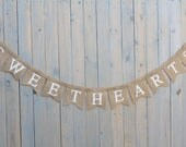 SWEET HEARTS Burlap Banner, wedding sign,  garland, Photography prop -mr  and mrs banner