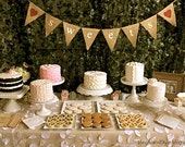 SWEETS burlap banner - Wedding reception - Dessert table - Cake table