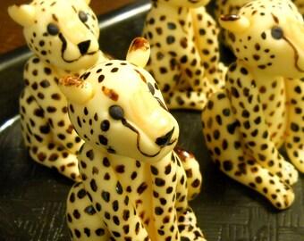 Cheetah Cupcake Toppers