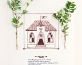 "House Nursery Rhyme Art Print - ""Little King Boggen"" - pictureatale"
