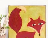 "SALE - Brothers Grimm Fox Nursery Art on Canvas - ""The Golden Bird"""