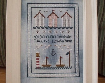 INSTANT DOWNLOAD Seaside Cross Stitch Sampler PDF Chart