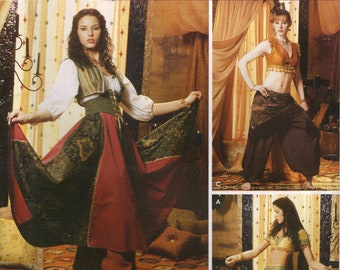 Simplicity Costume Sewing Pattern 0500 (aka 5359) - Misses' Gypsy & Belly Dancer Costumes (6-20)