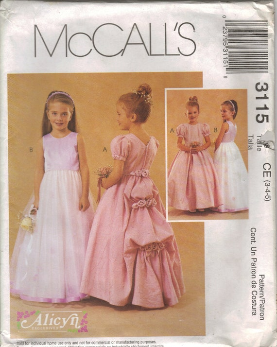 McCall's Sewing Pattern 3115 - Children's and Girls' Dresses (3-5)