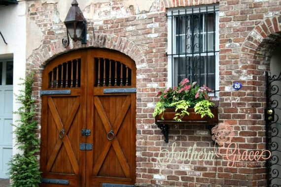 Items Similar To Charleston Carrige House Doors Beautiful Wooden Doors Window Box Historic